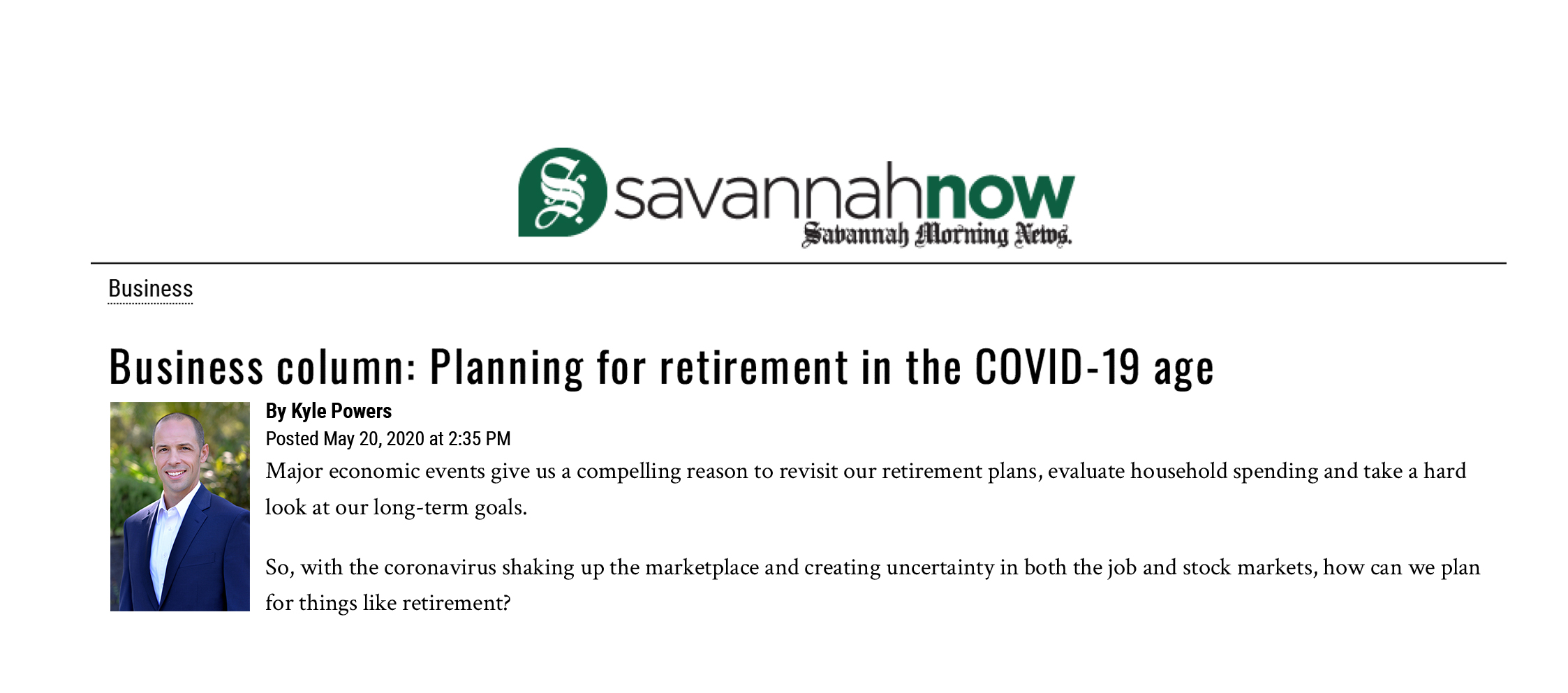 Planning for Retirement in the COVID-19 Age