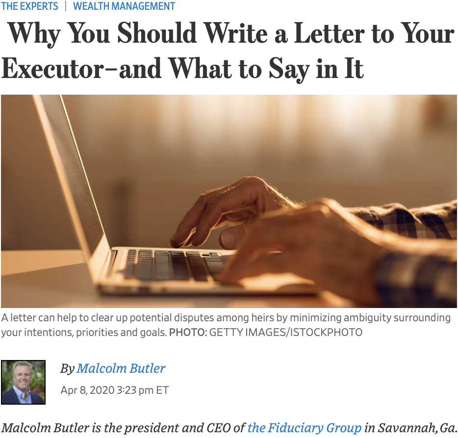 Why You Should Write a Letter to Your Executor–and What to Say in It